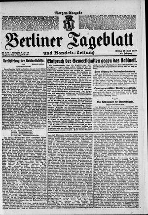 Berliner Tageblatt und Handels-Zeitung vom 26.03.1920