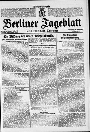 Berliner Tageblatt und Handels-Zeitung vom 27.03.1920