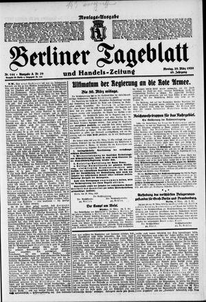 Berliner Tageblatt und Handels-Zeitung vom 29.03.1920
