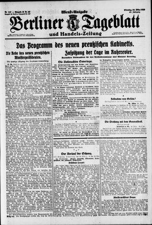 Berliner Tageblatt und Handels-Zeitung vom 30.03.1920
