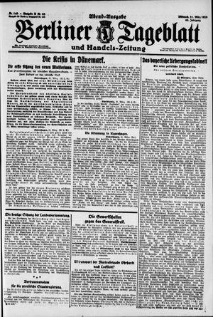 Berliner Tageblatt und Handels-Zeitung vom 31.03.1920