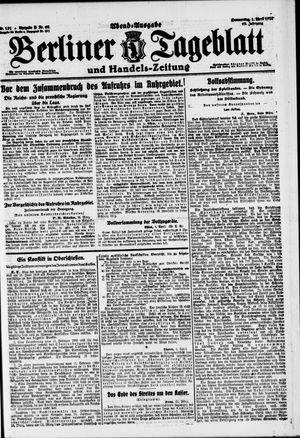 Berliner Tageblatt und Handels-Zeitung vom 01.04.1920