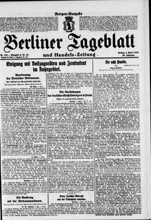Berliner Tageblatt und Handels-Zeitung vom 02.04.1920