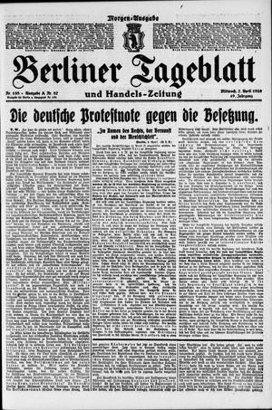 Berliner Tageblatt und Handels-Zeitung vom 07.04.1920