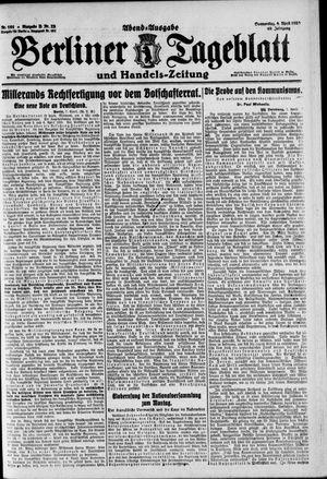 Berliner Tageblatt und Handels-Zeitung vom 08.04.1920