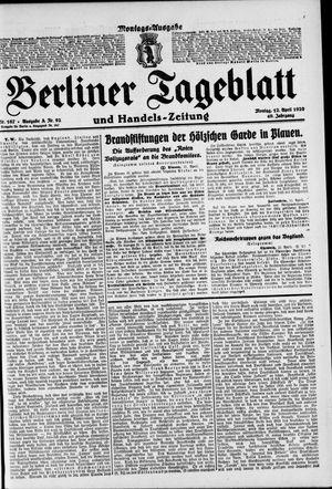 Berliner Tageblatt und Handels-Zeitung vom 12.04.1920
