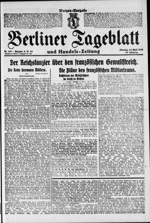 Berliner Tageblatt und Handels-Zeitung vom 13.04.1920
