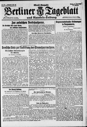 Berliner Tageblatt und Handels-Zeitung vom 19.04.1920
