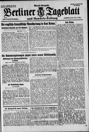 Berliner Tageblatt und Handels-Zeitung vom 20.04.1920