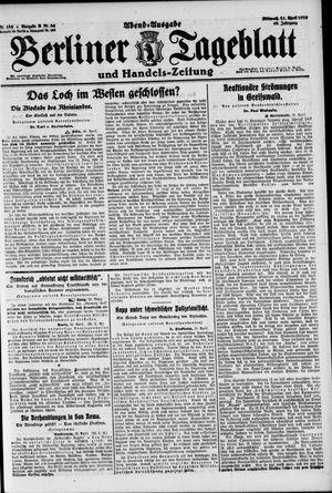 Berliner Tageblatt und Handels-Zeitung vom 21.04.1920