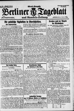 Berliner Tageblatt und Handels-Zeitung vom 22.04.1920