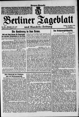 Berliner Tageblatt und Handels-Zeitung vom 23.04.1920