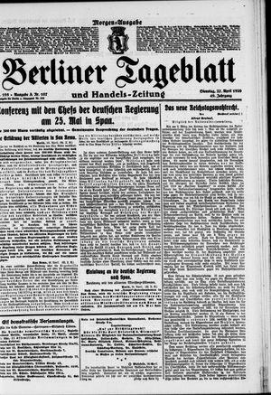 Berliner Tageblatt und Handels-Zeitung vom 27.04.1920