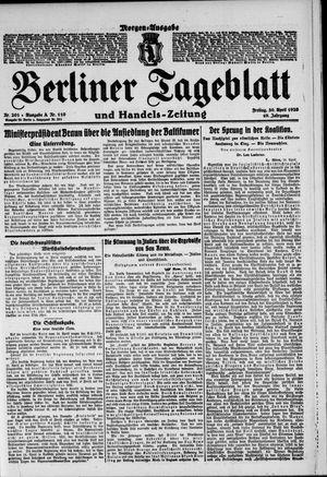 Berliner Tageblatt und Handels-Zeitung vom 30.04.1920