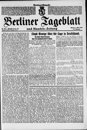 Berliner Tageblatt und Handels-Zeitung vom 03.05.1920
