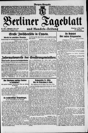 Berliner Tageblatt und Handels-Zeitung vom 04.05.1920