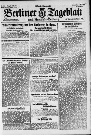 Berliner Tageblatt und Handels-Zeitung vom 06.05.1920