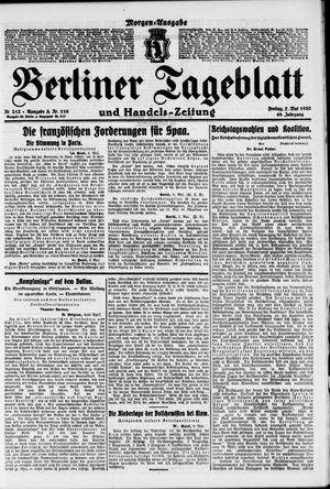 Berliner Tageblatt und Handels-Zeitung vom 07.05.1920