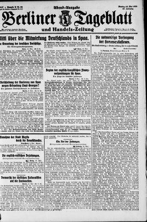 Berliner Tageblatt und Handels-Zeitung vom 10.05.1920