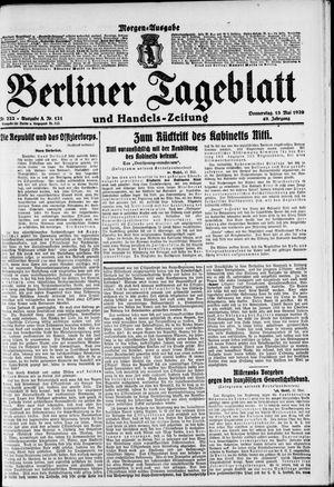 Berliner Tageblatt und Handels-Zeitung vom 13.05.1920