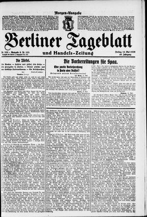 Berliner Tageblatt und Handels-Zeitung vom 14.05.1920