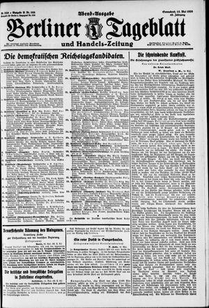 Berliner Tageblatt und Handels-Zeitung vom 15.05.1920