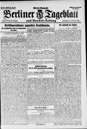 Berliner Tageblatt und Handels-Zeitung on May 19, 1920
