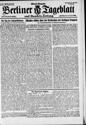 Berliner Tageblatt und Handels-Zeitung vom 20.05.1920