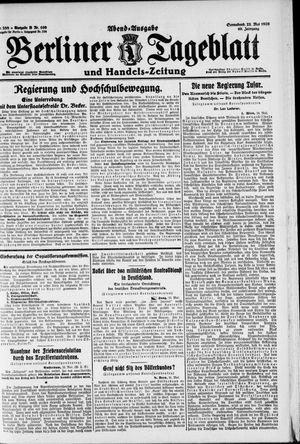 Berliner Tageblatt und Handels-Zeitung vom 22.05.1920