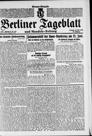 Berliner Tageblatt und Handels-Zeitung vom 23.05.1920