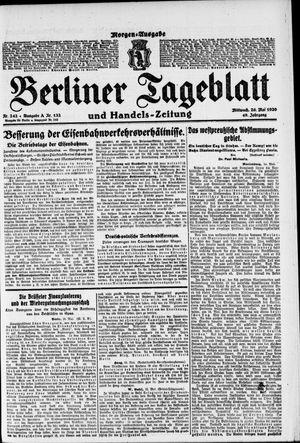 Berliner Tageblatt und Handels-Zeitung vom 26.05.1920