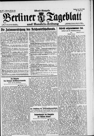 Berliner Tageblatt und Handels-Zeitung vom 28.05.1920