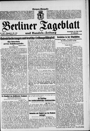 Berliner Tageblatt und Handels-Zeitung vom 29.05.1920