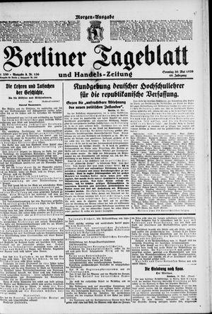Berliner Tageblatt und Handels-Zeitung vom 30.05.1920