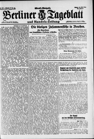 Berliner Tageblatt und Handels-Zeitung vom 31.05.1920