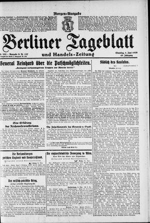 Berliner Tageblatt und Handels-Zeitung vom 01.06.1920