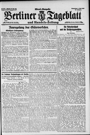 Berliner Tageblatt und Handels-Zeitung vom 03.06.1920