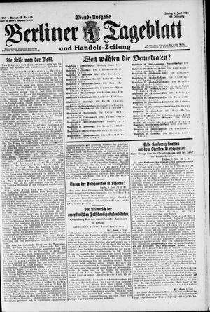 Berliner Tageblatt und Handels-Zeitung vom 04.06.1920