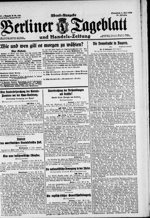 Berliner Tageblatt und Handels-Zeitung vom 05.06.1920
