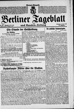 Berliner Tageblatt und Handels-Zeitung vom 06.06.1920