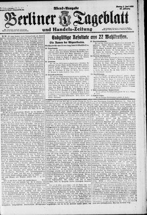 Berliner Tageblatt und Handels-Zeitung on Jun 7, 1920