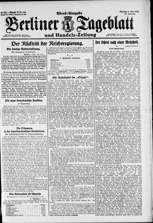 Berliner Tageblatt und Handels-Zeitung vom 08.06.1920