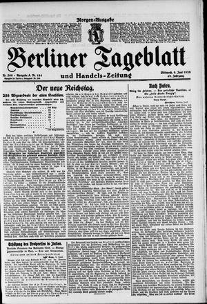 Berliner Tageblatt und Handels-Zeitung vom 09.06.1920
