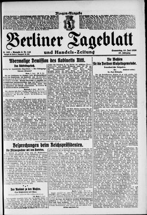 Berliner Tageblatt und Handels-Zeitung vom 10.06.1920