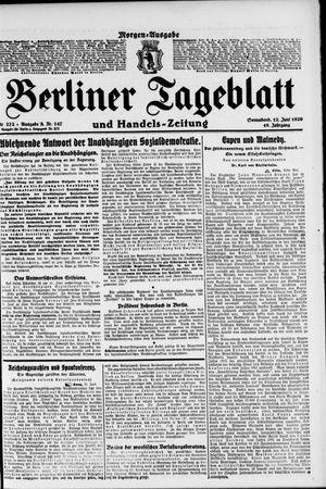 Berliner Tageblatt und Handels-Zeitung vom 12.06.1920