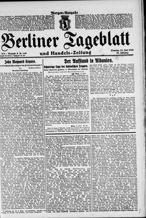 Berliner Tageblatt und Handels-Zeitung vom 13.06.1920