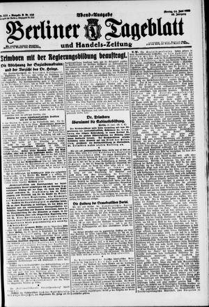 Berliner Tageblatt und Handels-Zeitung vom 14.06.1920