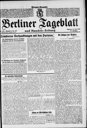 Berliner Tageblatt und Handels-Zeitung vom 15.06.1920
