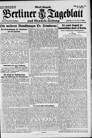 Berliner Tageblatt und Handels-Zeitung vom 16.06.1920