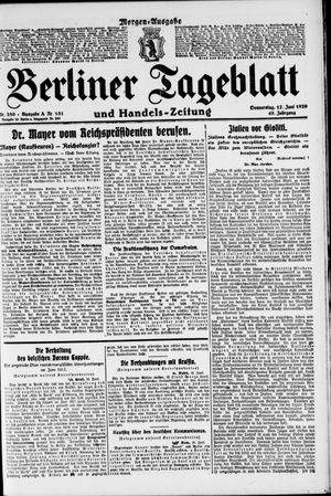 Berliner Tageblatt und Handels-Zeitung vom 17.06.1920